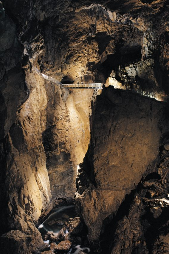 The Slocjan Caves are among 11,000 in Slovenia. About 250 are discovered every year. Source: Archives PSJ. Photo by Borut Lozej
