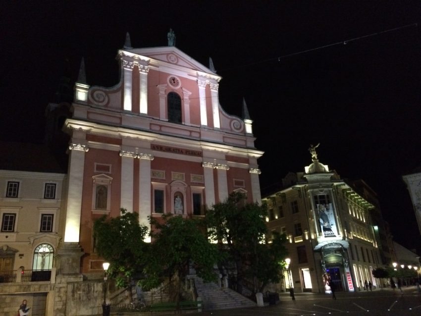 The Franciscan Church of the Annunciation has always been a Ljubljana landmark.