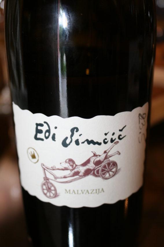 Edi Simcic's Malvazija wine.