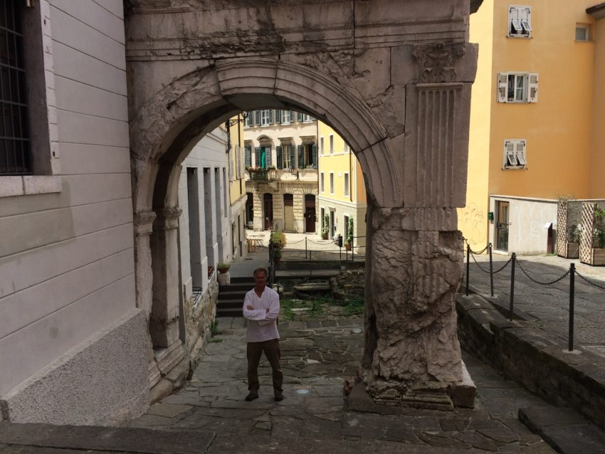 Me under the Arco di Ricardo from 33 B.C.