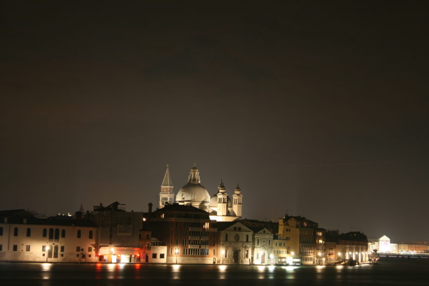 St. Mark's Basilica at night from my AirBnB window.