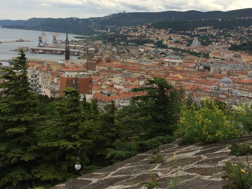 View of Trieste from 15th century Castello di San Giusto.