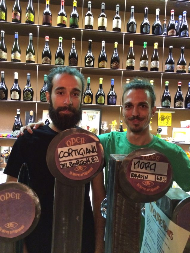 Baladin bartenders Alessandro, left, and Matteo.