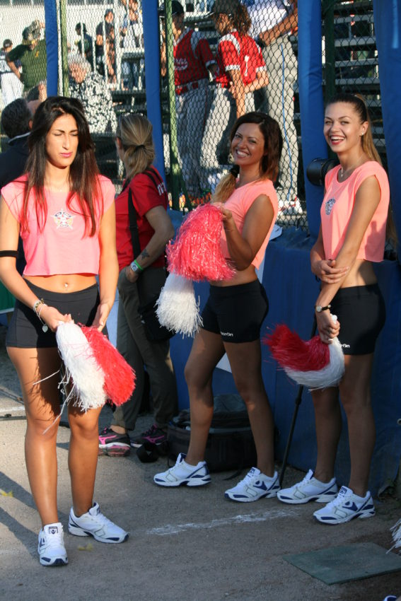The All-Star Game featured Italian cheerleaders.