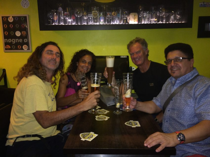 Tom Leitner, Ilaria, Robert and myself at Luppolo 12.
