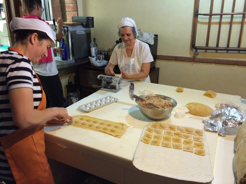 Cooks  in Ariccia making pasta by hand.