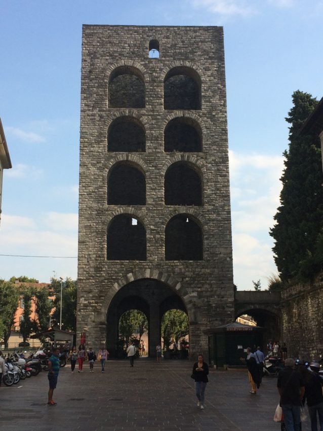 Porta Torre, part of the old Roman wall surrounding the city of Como.