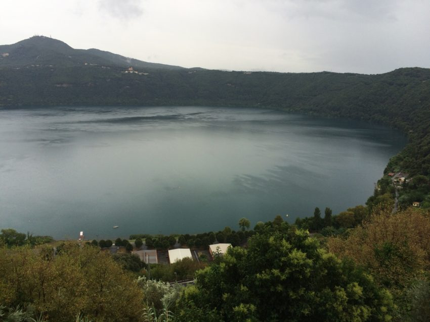 Lago di Albano, from Castel Gandolfo, summer residence of the pope.