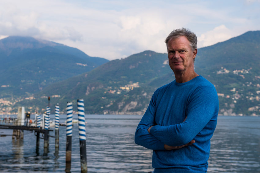 Me on the banks of Lake Como from Menaggio. Even in summer it's not hard to find a room on the lake. Photo by Marina Pascucci.