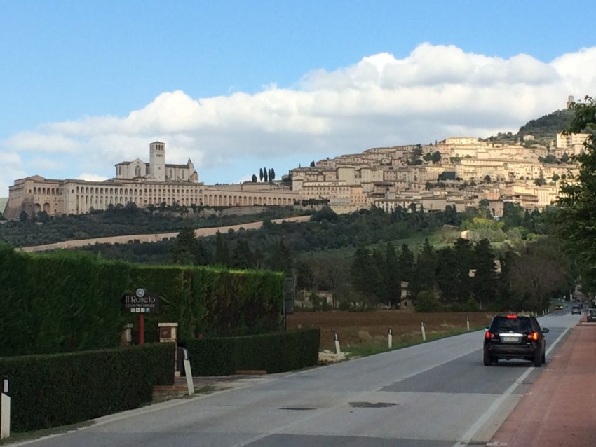 Assisi's Basilica di San Francesco, left, can be seen all over Umbria.