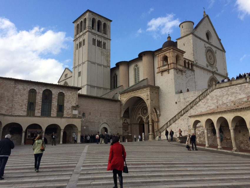 The entrance to the Basilica di San Francesco.