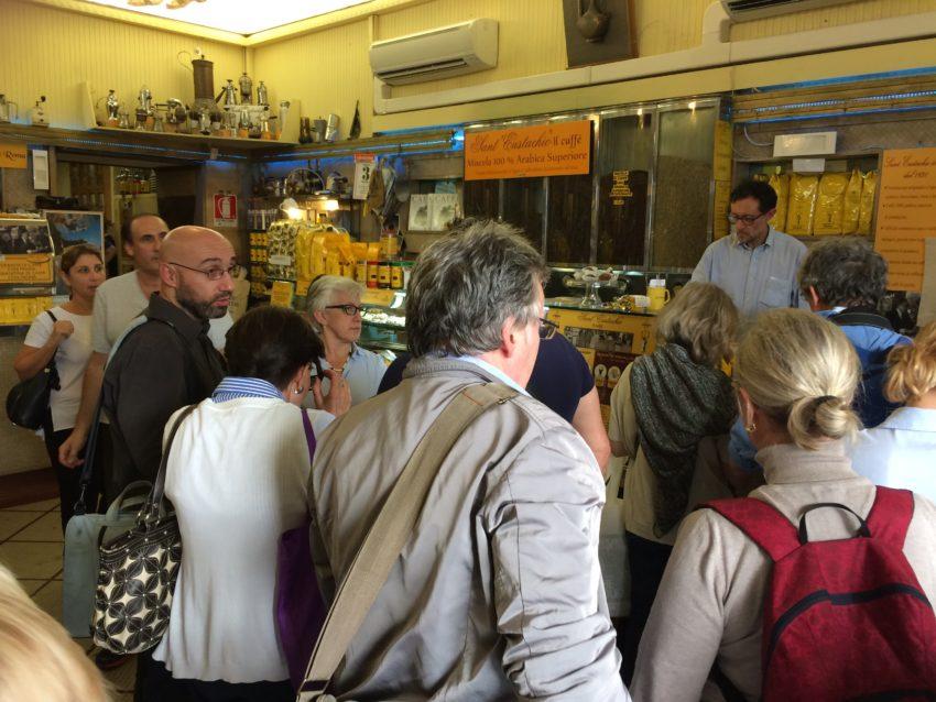 Caffe Sant'Eustachio still has the original mosaics and furniture.