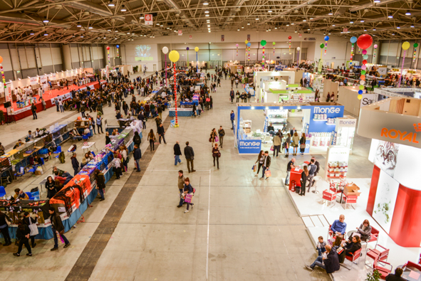 The Nuova Fiera di Roma has nearly 108,000 square feet stretching about 50 meters. Photo by Marina Pascucci.
