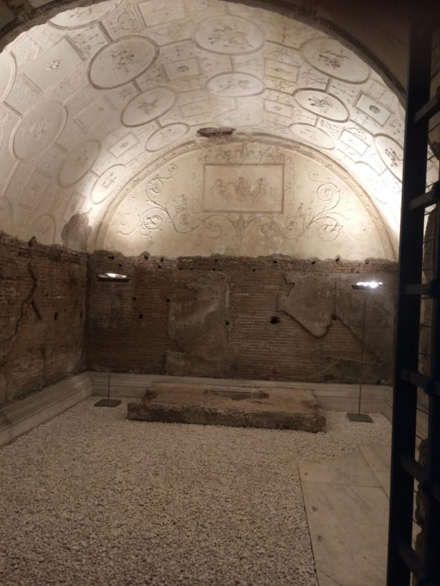 Inside the Valerii tomb.