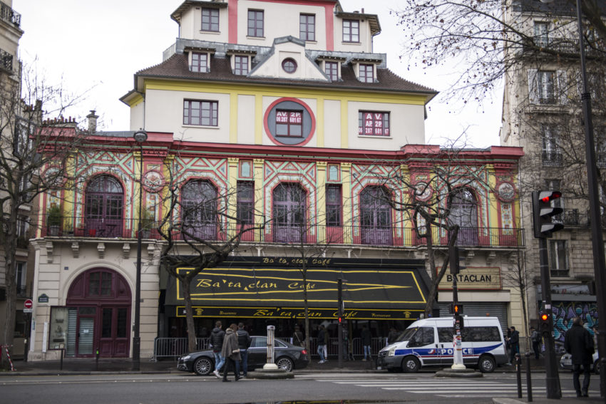 The Bataclan where 89 people were gunned down Nov. 13. Photo by Marina Pascucci.