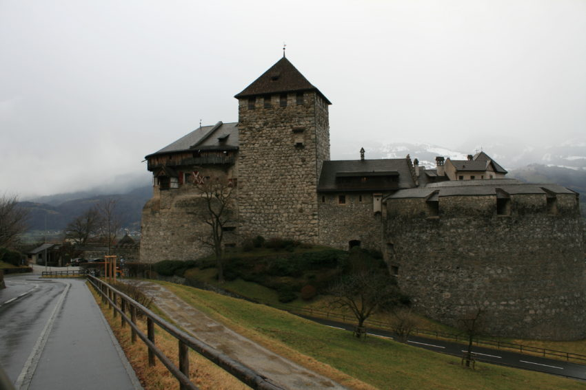Vaduz Castle is accessible on one of the main roads.