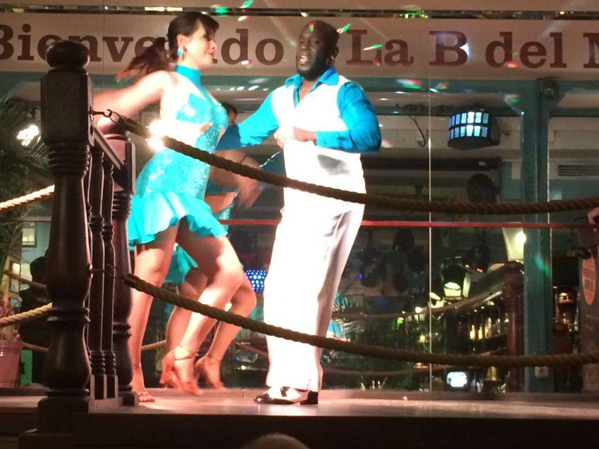 Dancers in the Cuban-themed bar, La Bodeguita del Medio.