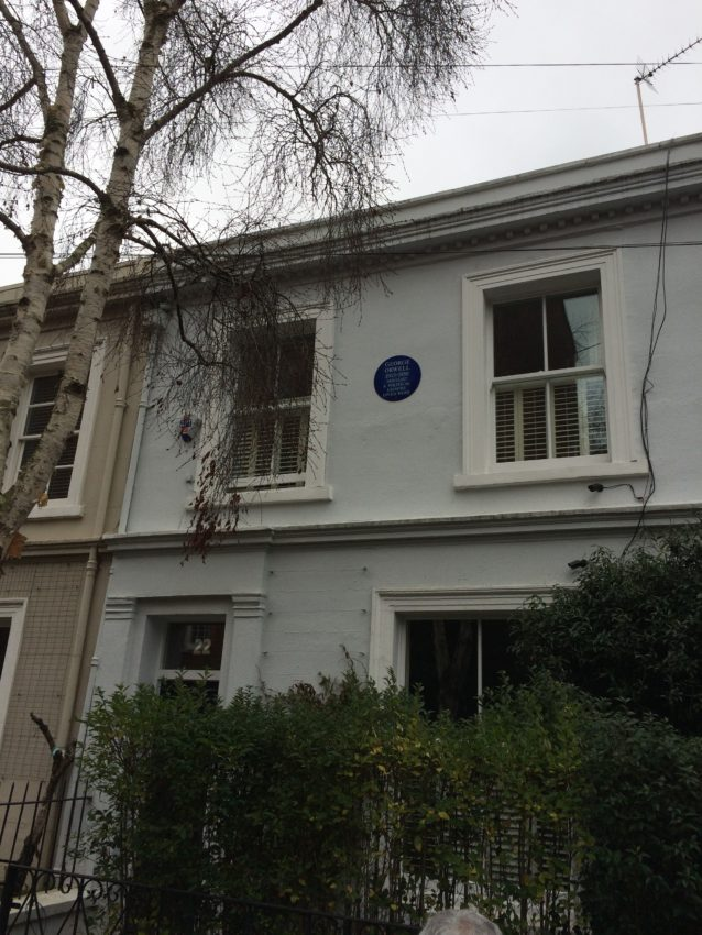 George Orwell lived in this upstairs apartment in Notting Hill.
