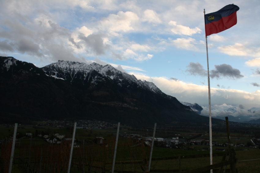 The Alps are everywhere in Liechtenstein which is covered 40 percent by forest.