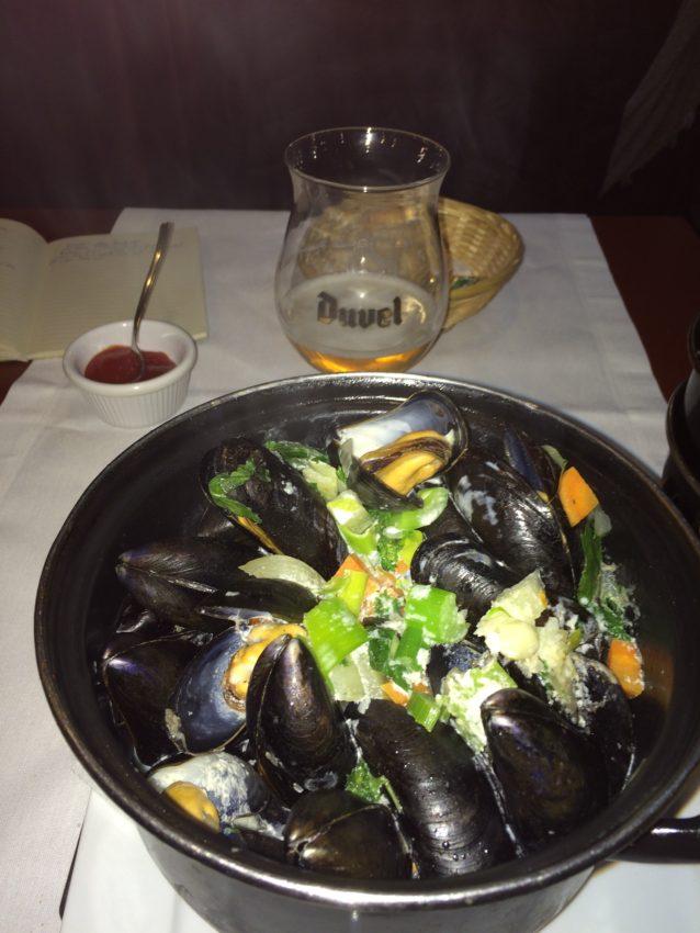 Mussels, Belgium's national dish.