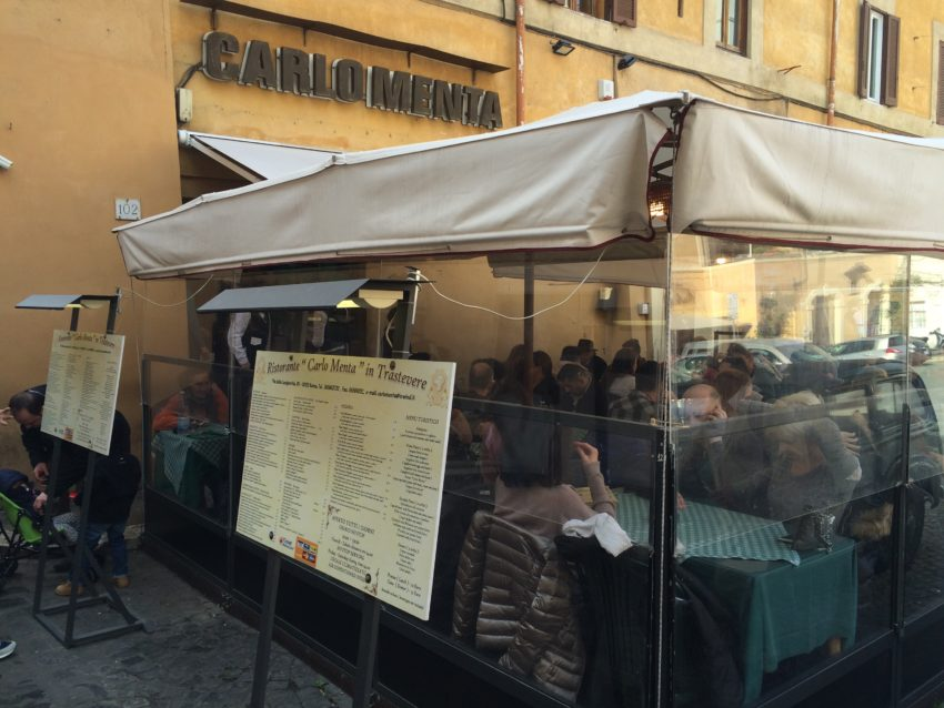 Carlo Menta in Trastevere is one of the most popular restaurants in Rome.