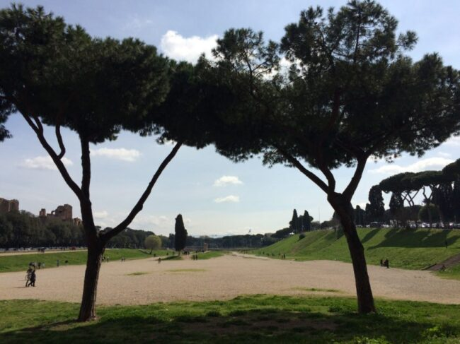 This is where Circo Massimo stood 2,500 year ago when it held more than 150,000 people for chariot races.