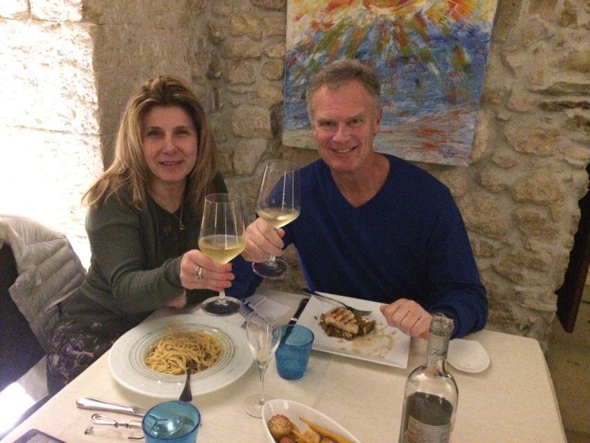 Marina and I at Don Camillo on my birthday night.