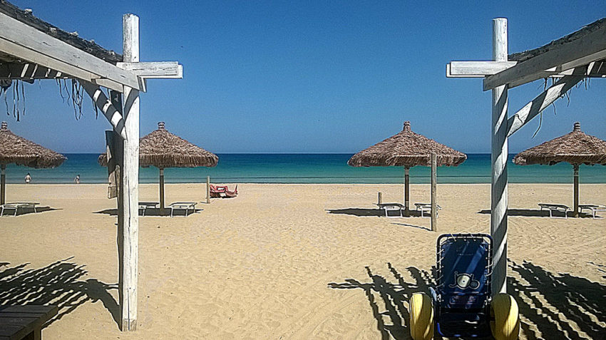 San Lorenzo beach is just south of the Baroque Triangle right on the Mediterranean Sea. Photo by Marina Pascucci.