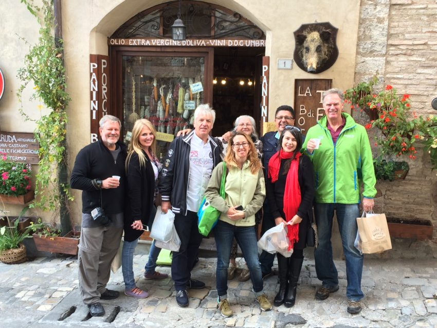 My friends and I in Spello at the end of our annual Umbria overnighter.