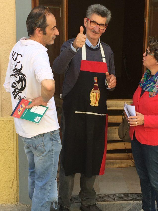 Aleandro , owner of Enoteca Le Volte in Castellina in Chianti.
