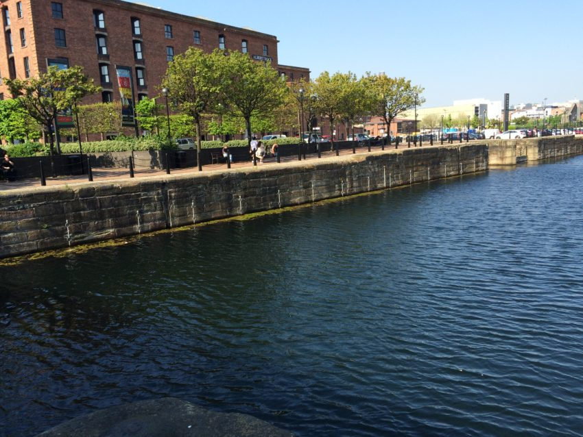 The canal on the waterfront.