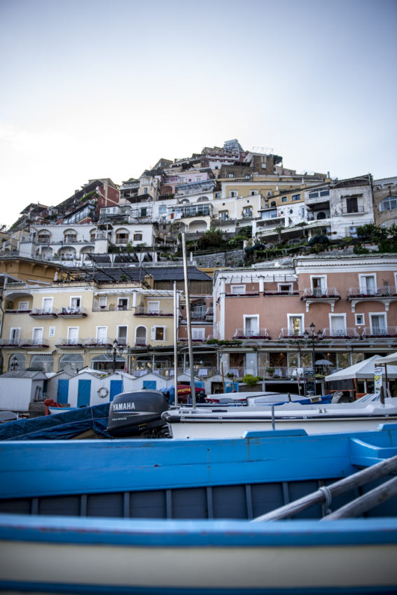 Positano from the beach. Photo by Marina Pascucci