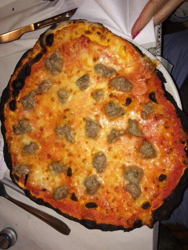 Remo's sausage pizza.