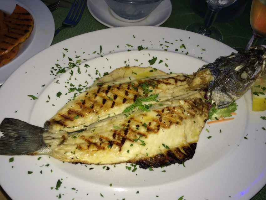 Sea bass at C'era Una Volta.
