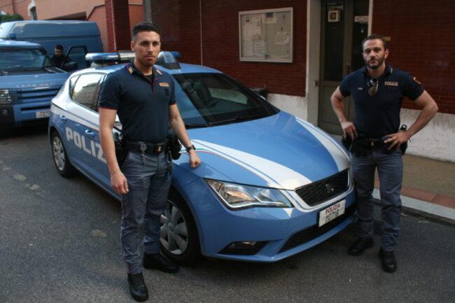 Gerardo Mastrangelo and Gian Cristian Salimbene before their Saturday night shift.