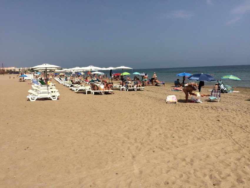 Denia's beach is clean, functional and close.