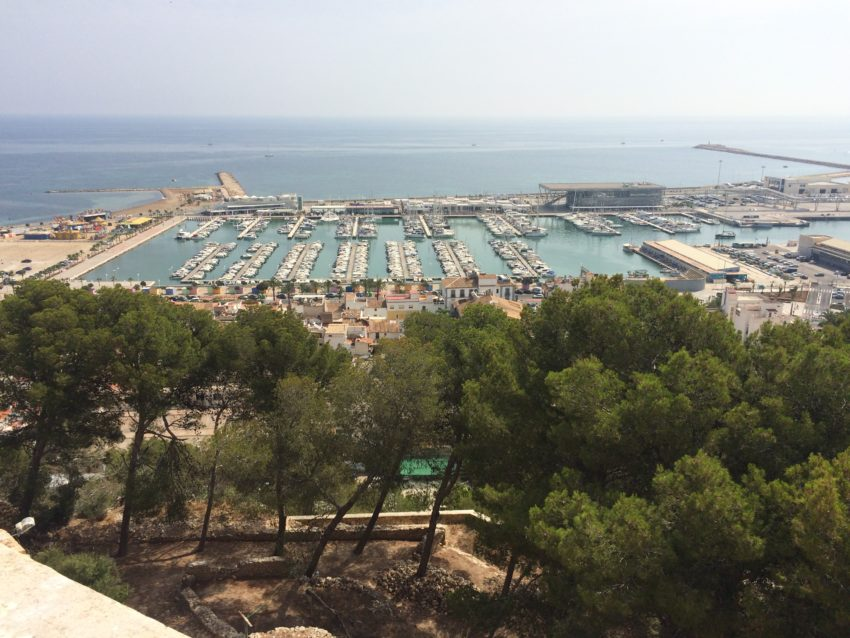 The port of Denia from atop Denia's castle.