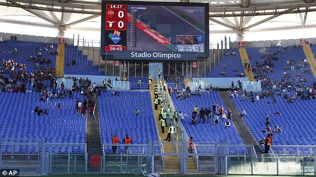 The barrier in Curva Sud was designed to cut down ugly behavior and over crowding.