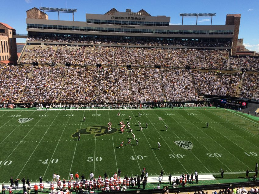 Oregon State vs. Colorado at Boulder's Folsom Field.