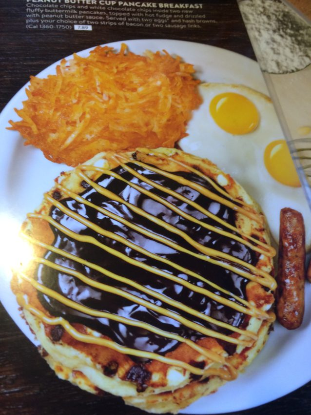 Denny's Peanut Butter Cup Pancake.