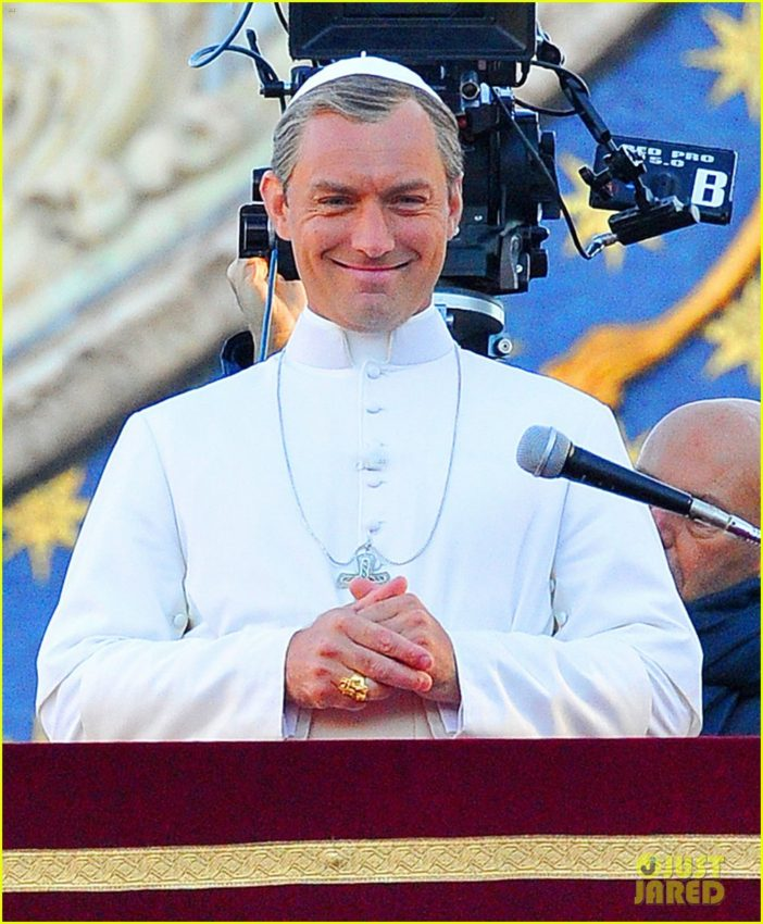 "Jude Law in ""The Young Pope."""