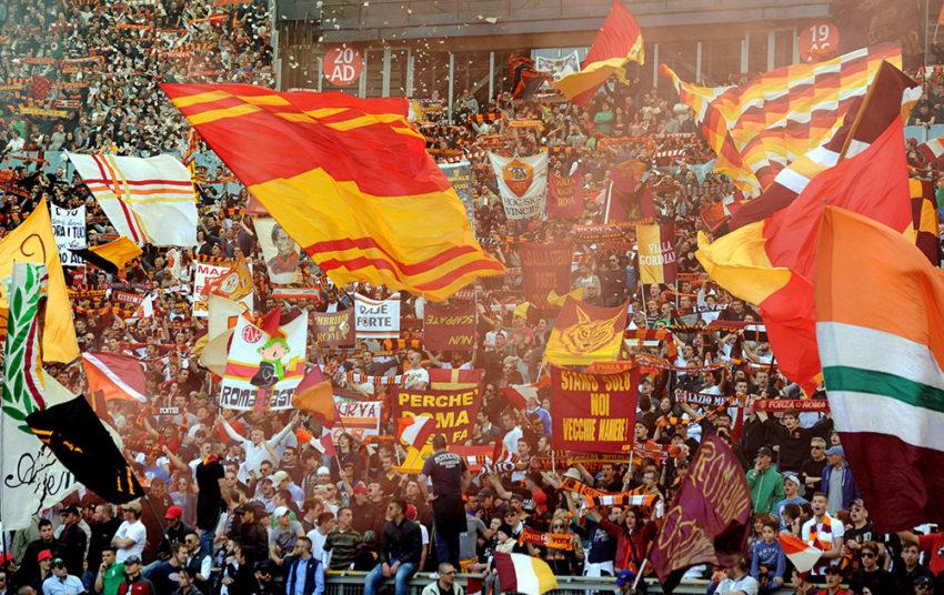 Curva Sud before last season's protest.
