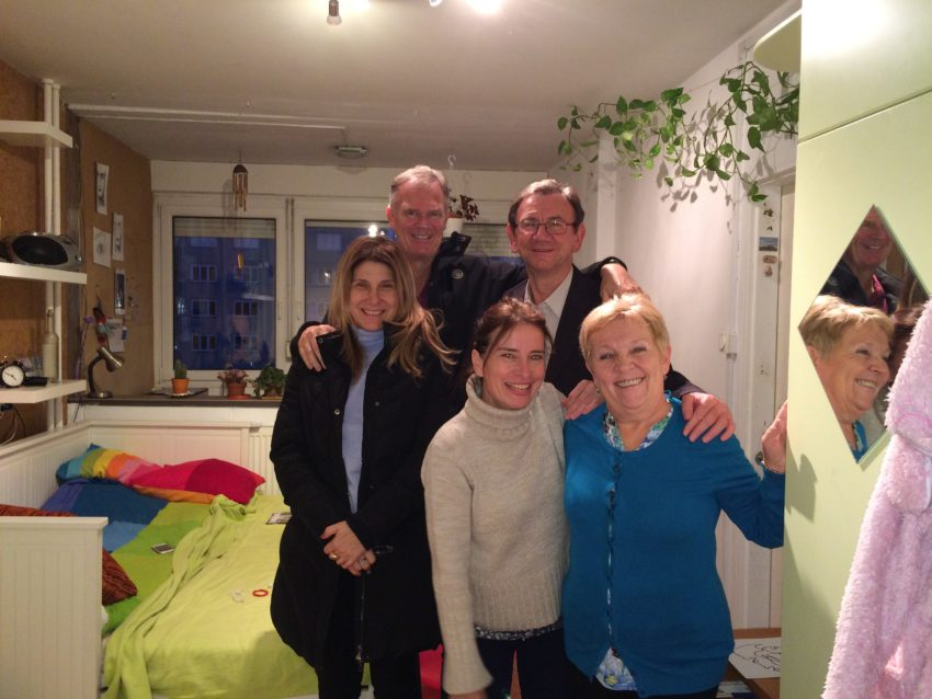 Marina and I gathered with my old Hungarian friends at Rita's flat in South Buda.