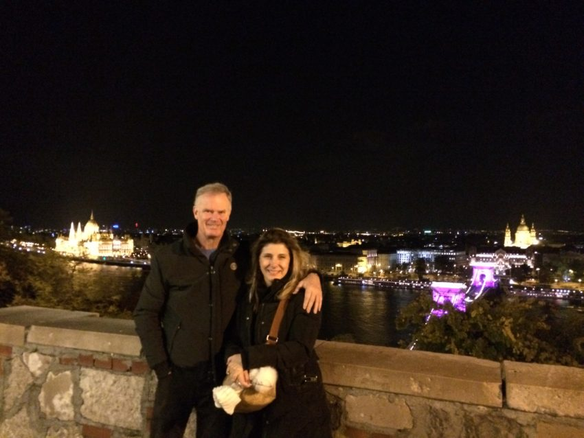 Marina and I atop Castle Hill.