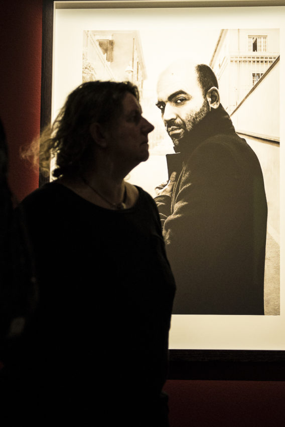 "Fotografiska features photos of some of the world's great human rights activists and writers, including Italy's Roberto Saviano (""Gomorrah""). Photo by Marina Pascucci"