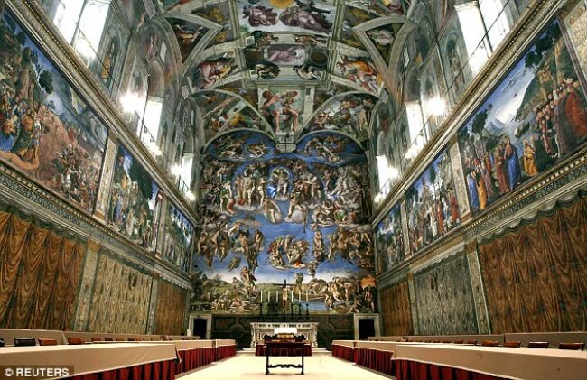 It took Michelangelo 4 1/2 years to paint the ceiling of the Sistine Chapel.