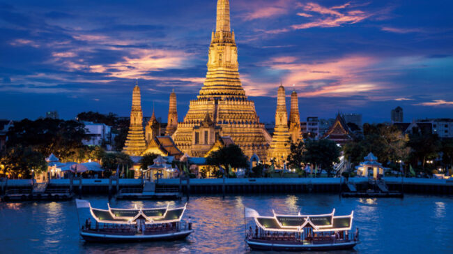 """Wat Arun, """"The Temple of Dawn,"""" symbolizes Thailand's Buddhist foundation but underneath lies a pulsating sub-culture."""