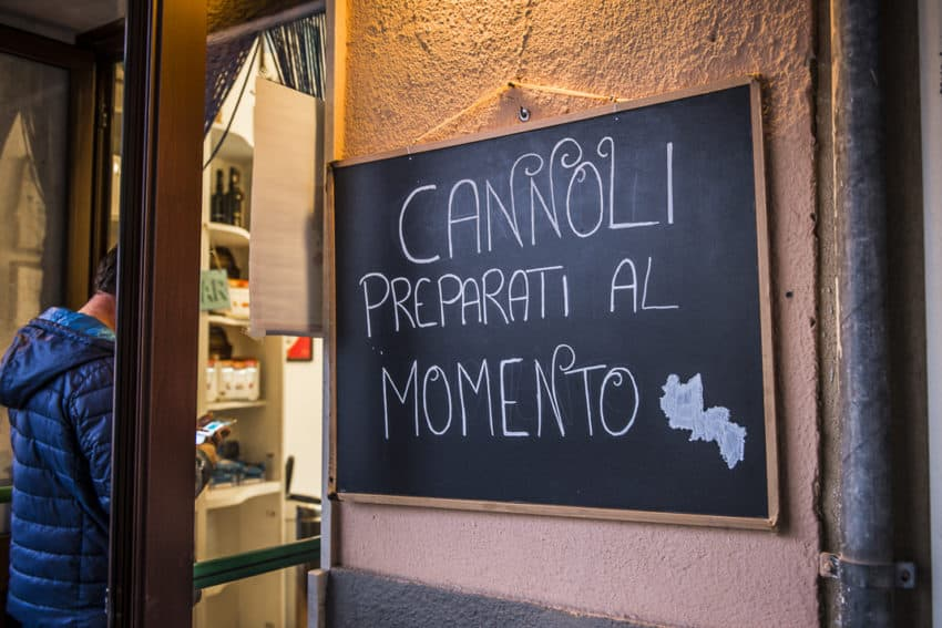 Yes, the cannoli is always fresh in Favignana. Photo by Marina Pascucci