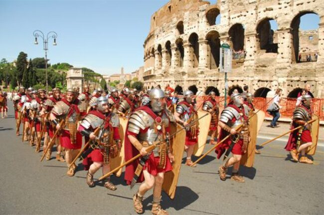 Rome turned 2,770 Friday. On Sunday, Rome's Scuola dei Gladiator marched to the Colosseum. In 2002, I was one of them.
