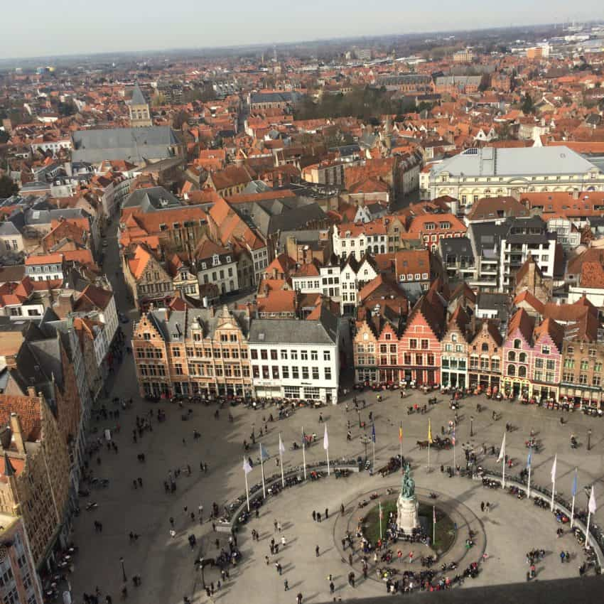 The Markt from the Belfry's bell tower.